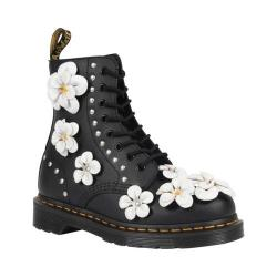 Women's Dr. Martens Pascal 8-Eye Zip Boot Black Hydro Leather