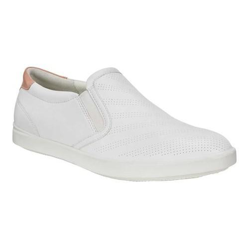 c0edb4824af Shop Women's ECCO Aimee Sport Slip-on White/Muted Clay Cow Leather/Cow  Nubuck - Free Shipping Today - Overstock - 19847676