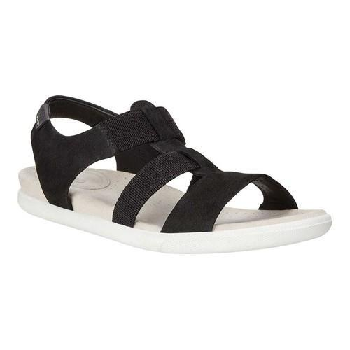 Women's ECCO Damara Elastic Strappy Sandal Black Cow Nubuck