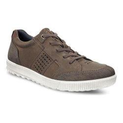 Men's ECCO Ennio Tie Sneaker Coffee/Camel Nubuck