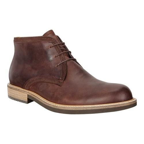 Men's ECCO Kenton Derby Ankle Boot Mink/Mocha Cow Leather/