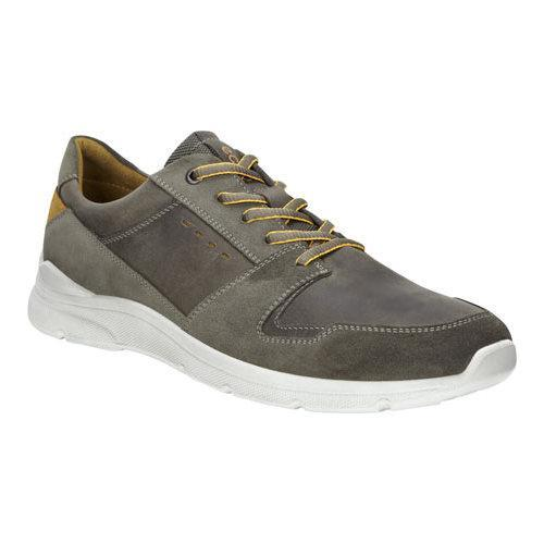 170411f87bd Shop Men's ECCO Irondale Retro Low Lace Up Shoe Warm Grey/Tarmac Cow Oil  Suede/Nubuck - Free Shipping Today - Overstock - 19847786