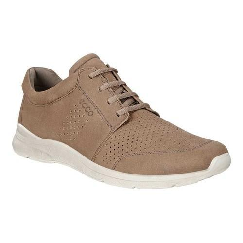 ffcb63db11a0 Shop Men s ECCO Irving Perforated Tie Sneaker Birch Yak Nubuck - Free  Shipping Today - Overstock - 19847787