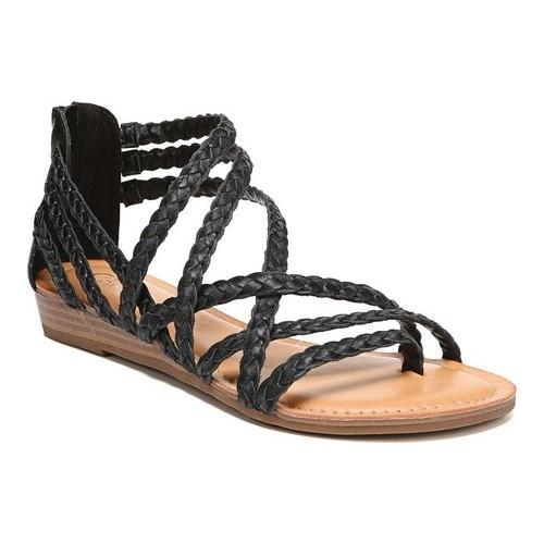 9a3fe8c9728fe Women s Carlos by Carlos Santana Amara 2 Strappy Sandal Black Leather -  Free Shipping Today - Overstock.com - 25786265