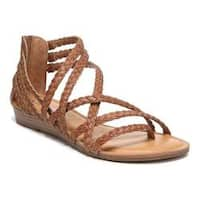 Women's Carlos by Carlos Santana Amara 2 Strappy Sandal Tawny Tan Leather