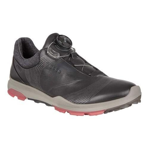 Shop Women s ECCO BIOM Hybrid 3 BOA GORE-TEX Golf Shoe Black Teaberry Yak  Leather - Free Shipping Today - Overstock - 19856515 69652ad934