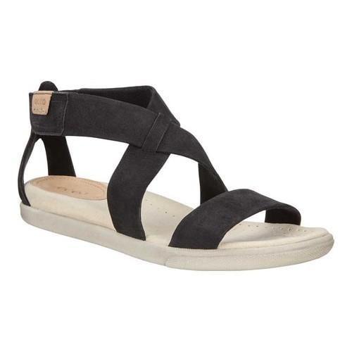 864eeddb8679 Shop Women s ECCO Damara Strappy Sandal Black Cow Nubuck - Free Shipping  Today - Overstock.com - 19856522