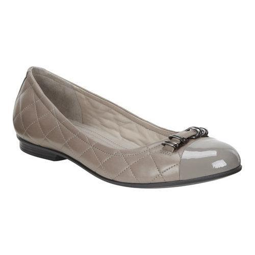 Women's Ecco Touch Quilted Ballerina Flat Warm Grey/Stone...