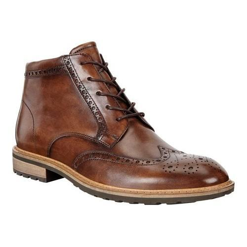 e0491a6a297 Shop Men s ECCO Vitrus Wing Tip Boot Nature Calf Leather - Free Shipping  Today - Overstock - 19856546