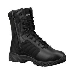 Men's Smith & Wesson Breach 2.0 8in Side Zip Boot Black Leather/Nylon