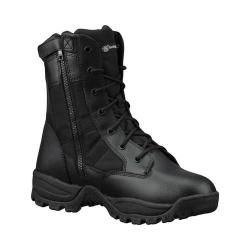 Men's Smith & Wesson Breach 2.0 Waterproof 8in Side Zip Boot Black Leather/Nylon