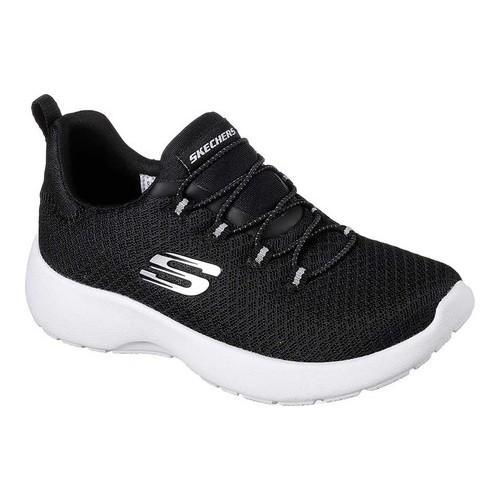 ef8c1611f2c5 Girls  x27  Skechers Dynamight Race N Run Sneaker Black White