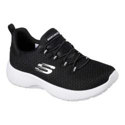 Girls' Skechers Dynamight Race N Run Sneaker Black/White