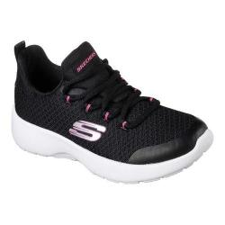 Girls' Skechers Dynamight Sneaker Black/White