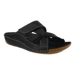 Women's Spring Step Gretta Slide Black Leather