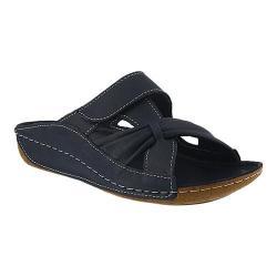 Women's Spring Step Gretta Slide Navy Leather