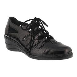 Women's Spring Step Rayray Oxford Black Leather