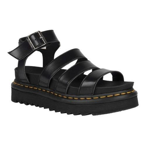 Blaire Vegan Strappy Flat Sandals in Black - Black felix rub off Dr. Martens Ebay Online Explore Cheap Online jr3OTA
