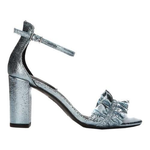 fbcb47fff4a Shop Women s Kenneth Cole Reaction Rise Ruffle Heeled Sandal Storm Metallic  - Free Shipping Today - Overstock - 19880091