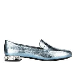 Women's Kenneth Cole Reaction Jet Behind Loafer Storm Metallic