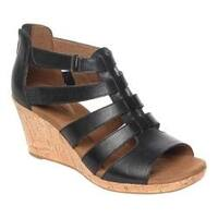 Women's Rockport Briah Gladiator Sandal Black Leather