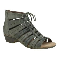 Women's Rockport Cobb Hill Gabby Gladiator Bootie Green Multi Leather (More options available)