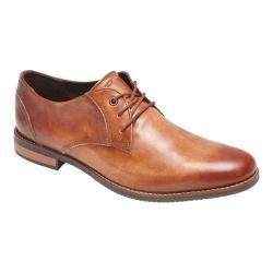 Men's Rockport Style Purpose Plain Toe Oxford Cognac Leather
