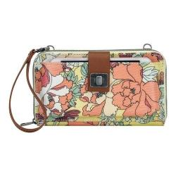 Women's Sakroots Artist Circle Large Smartphone Crossbody Sunlight Flower Power