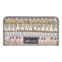 Women's Sakroots Artist Circle Slim Wallet Pastel One World