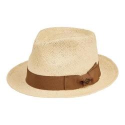 Men's San Diego Hat Company Paper Fedora with Tacked Bow SDH3048 Natural