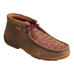 Women's Twisted X Boots Driving Moc Chukka Bomber/Mahogany Leather