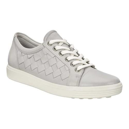 51cab1b559c Shop Women s ECCO Soft 7 Woven Tie Sneaker Concrete Cow Leather Cow Nubuck  - Free Shipping Today - Overstock - 19883201