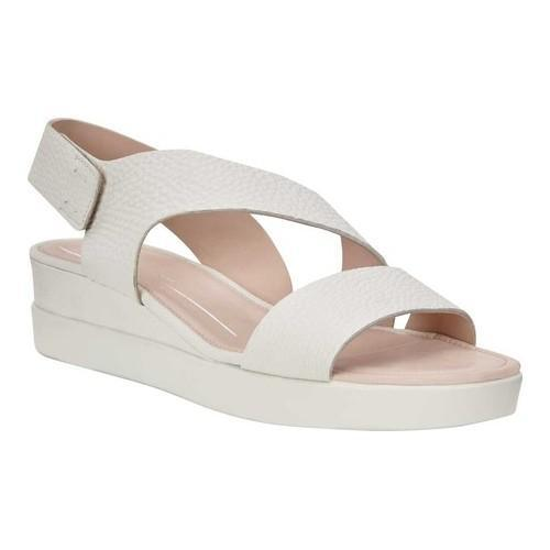 f7da8a214c78 Shop Women s ECCO Touch Plateau 2-Stap Sandal White Leather - Free Shipping  Today - Overstock.com - 19884377