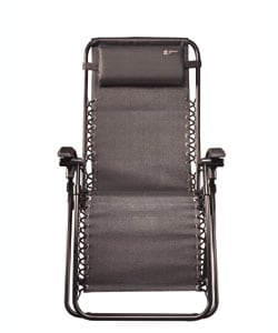 TravelChair Lounge Lizard Black Folding Recliner Chair