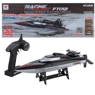 High Speed FT012 Remote Control 2.4G 4CH 4 Channel Brushless RC Racing Boat