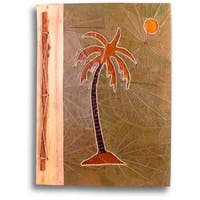 Handmade Palm Tree Design Bamboo/ Leaves Photo Album (Indonesia)