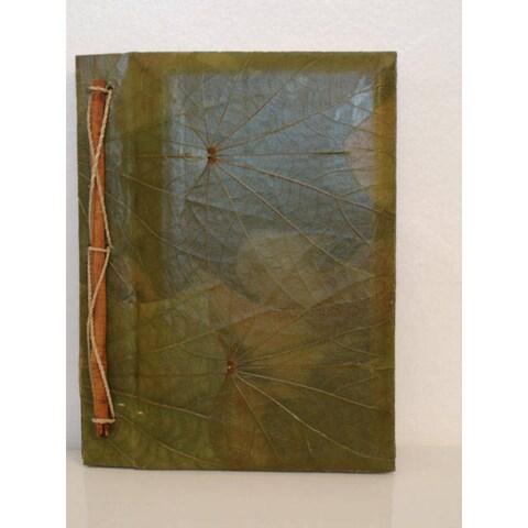Handmade Lotus Leaves Writing Journal (Indonesia)