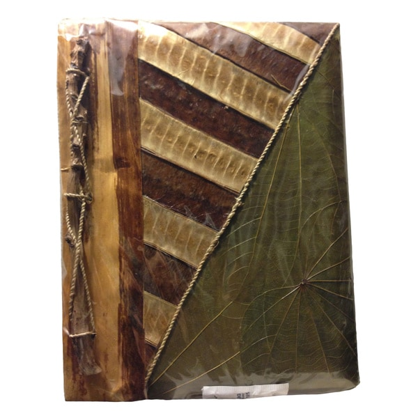Handmade Waru Leaves Heart Writing Journal (Indonesia)