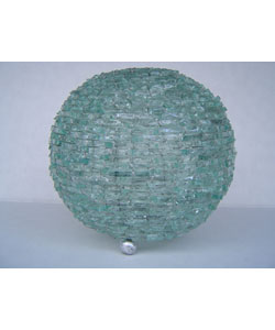 Natural Glass Ball Lamp, Handmade in Indonesia