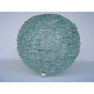 Natural Glass Ball Lamp, Handmade in Indonesia