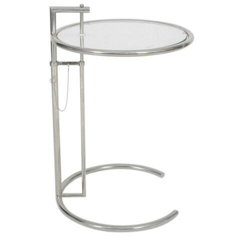 MLF Eileen Adjustable Glass Pedestal End Table