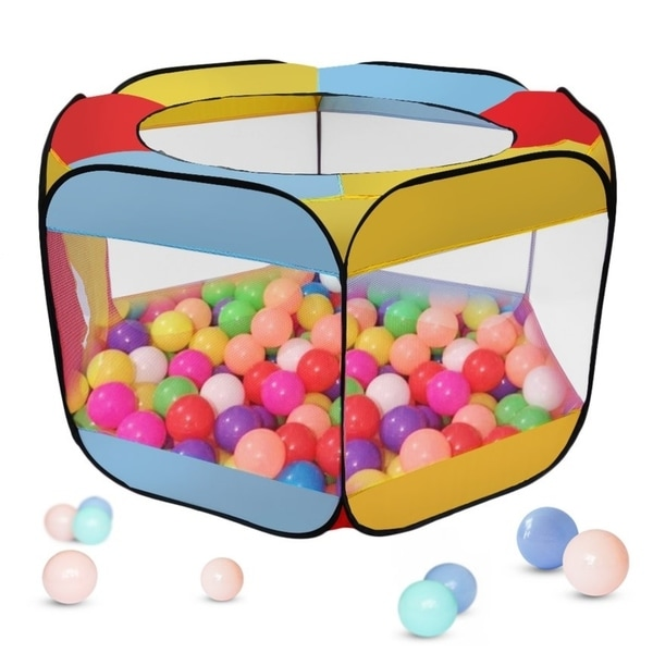 Children Kids Ball Pit Pool Game Indoor Outdoor Folding Portable Play Tent - Multi