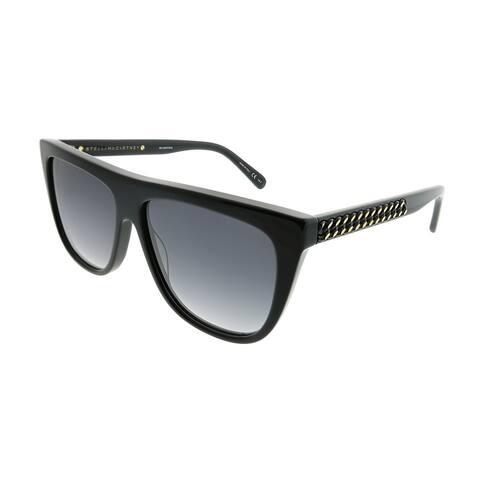 Stella McCartney Cat-Eye SC 0149S Falabella 001 Women Black Frame Grey Gradient Lens Sunglasses