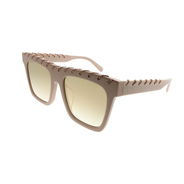 a8ec381965 Stella McCartney Square SC 0128SA Falabella 004 Women Pink Frame Gold  Mirror Gradient Lens Sunglasses
