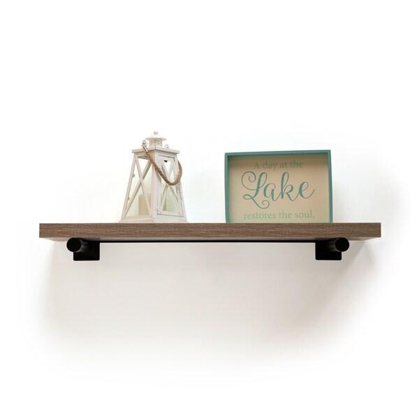InPlace 36-inch Brown Driftwood Shelf w/Bracket