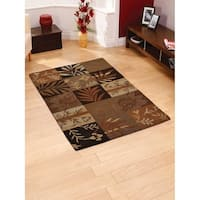 Hand Tufted Wool Area Rug Floral Multicolor