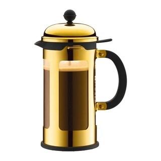 Bodum CHAMBORD French Press Coffee Maker, 34 oz, 1 L, Gold