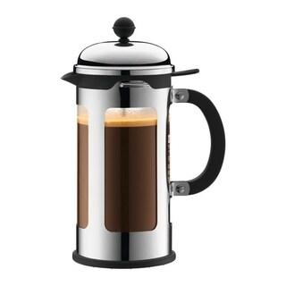 Bodum CHAMBORD French Press Coffee Maker, 34 oz, 1.0 L, Chrome