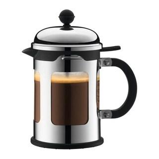 Bodum CHAMBORD French Press Coffee Maker w/ Locking Lid, 17oz, Chrome