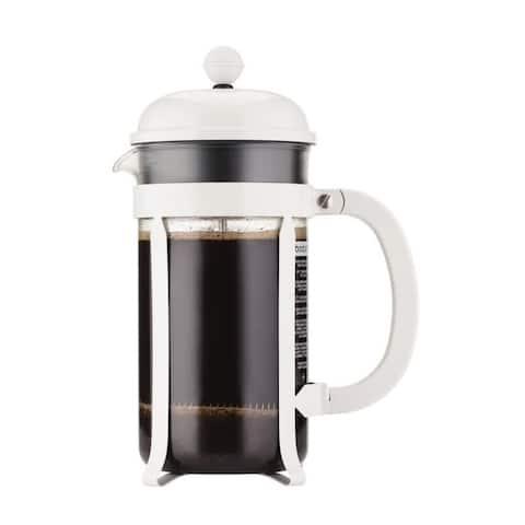 Bodum CHAMBORD French Press Coffee Maker, 34 oz, White